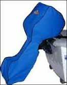 Синий чехол для лодочного мотора
